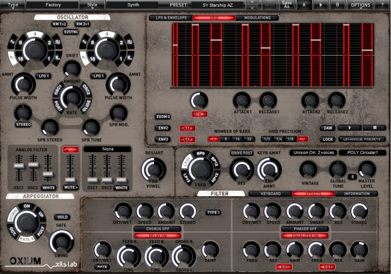 Oxium VST Synthesizer Plugin