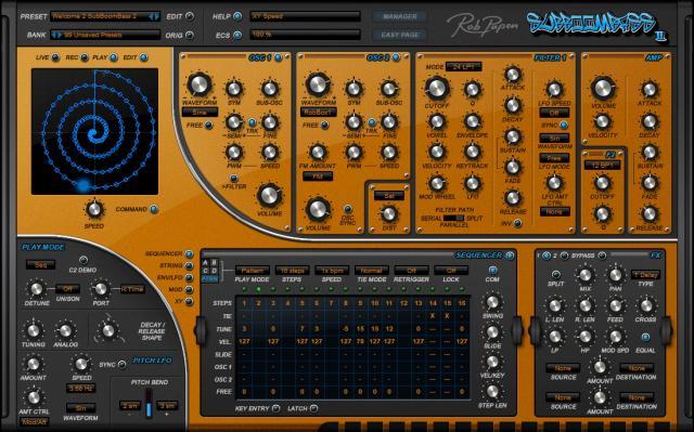 SubBoomBass synthesizer plugin