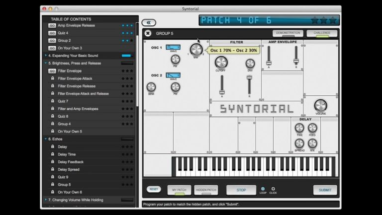 Synthorial synthesizer programmeren
