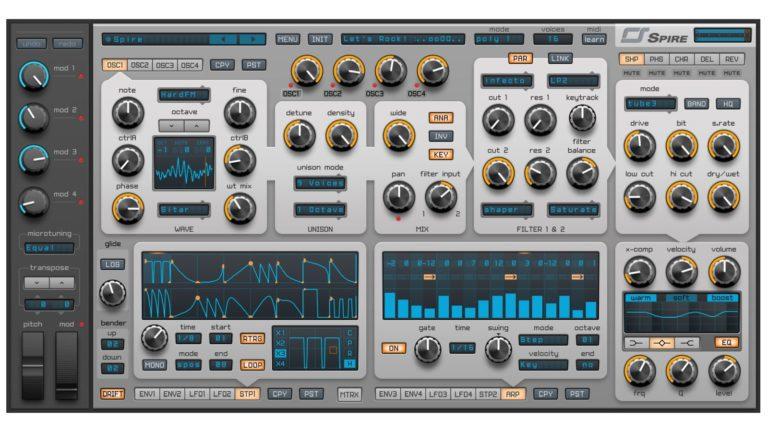 Spire synthesizer VST plugin