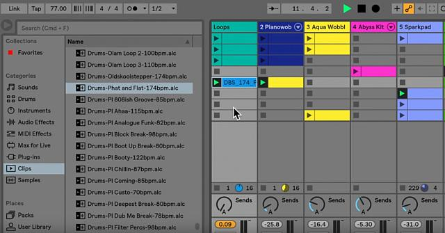 Creatief muziek maken met Session View van Live