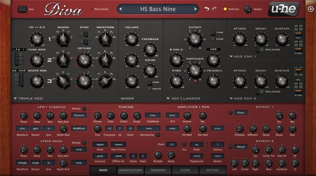 U-he Diva synthesizer plug-in