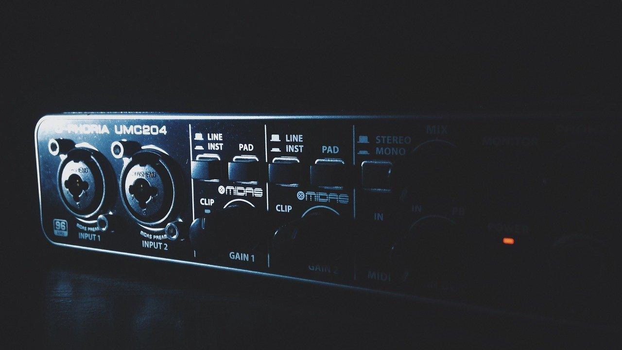 externe audio-interface voor home recording studio